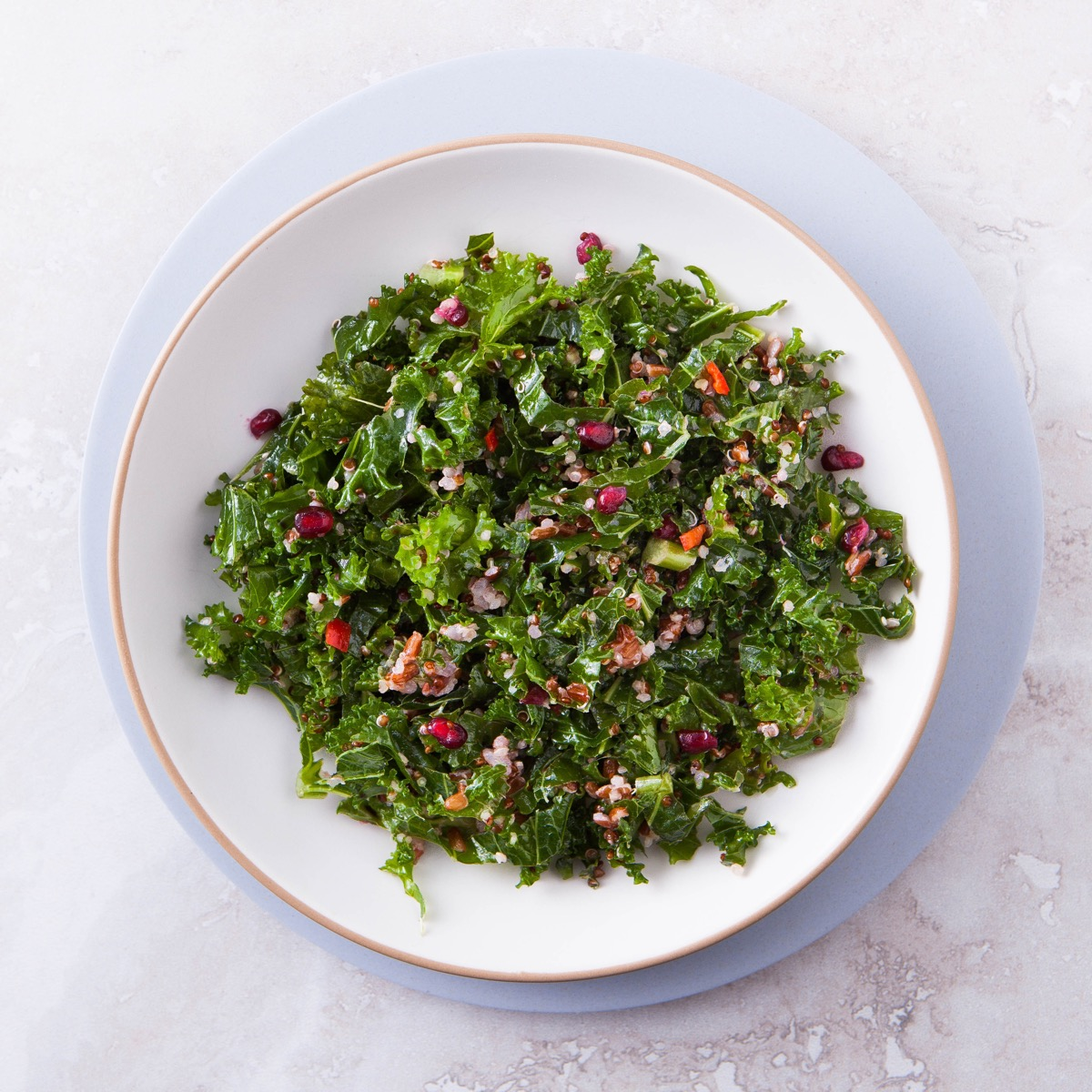 Kale, Quinoa & Red Rice Salad