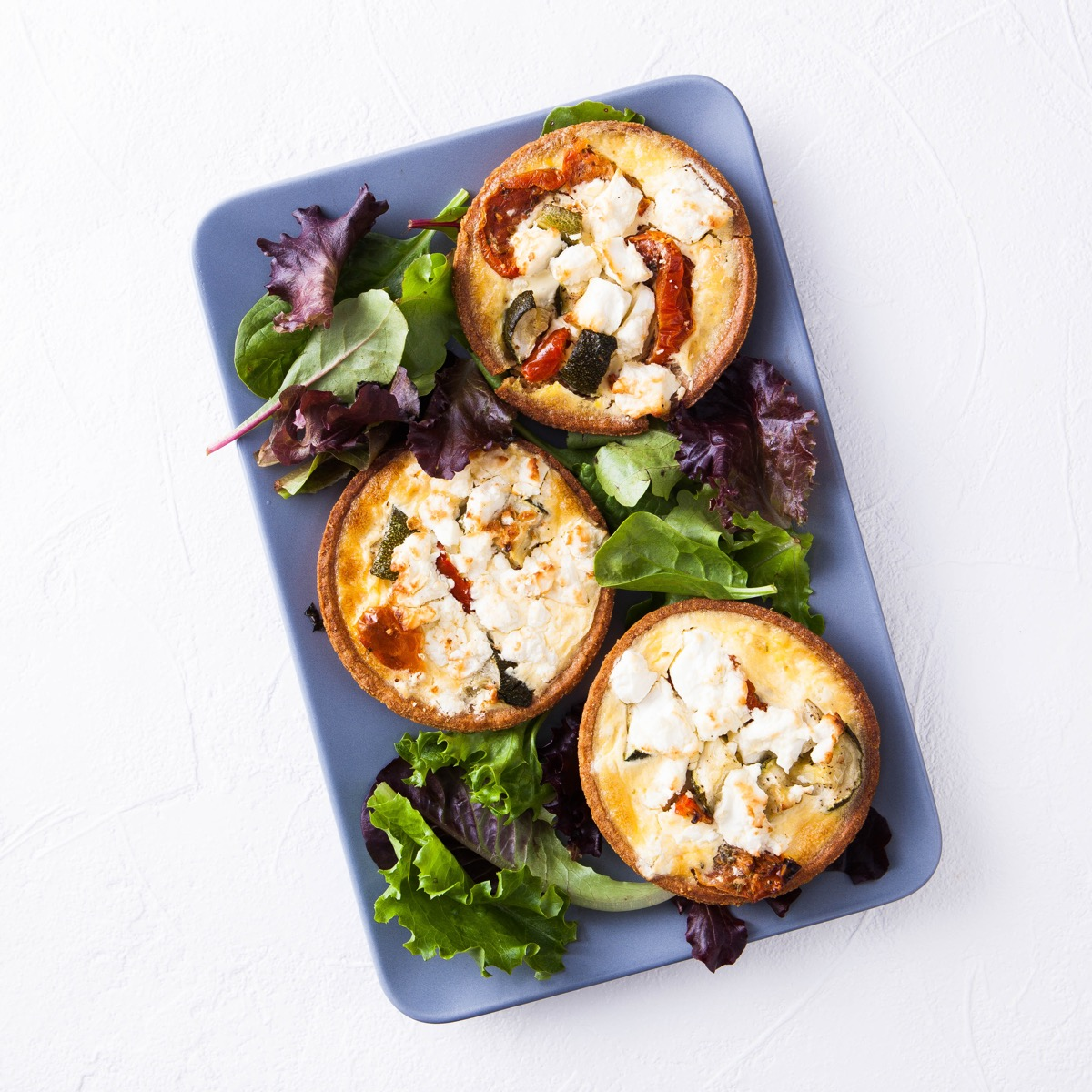 Individual Savoury Tartlet - Sundried Tomato, Spinach & Feta Cheese