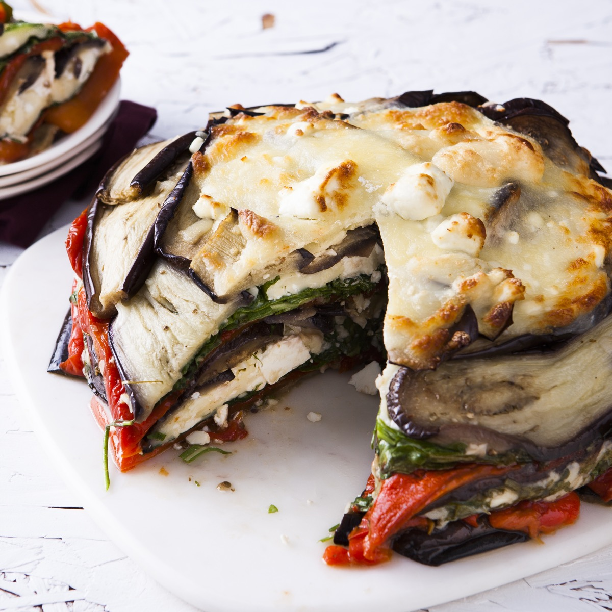 Three Cheese Aubergine Bake