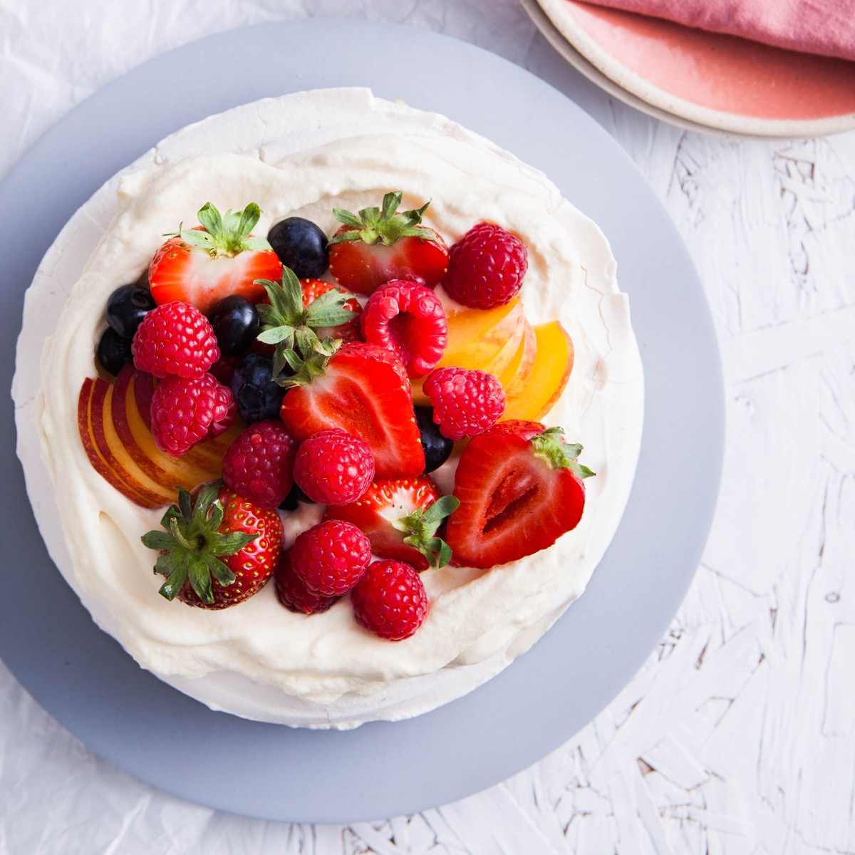 Fresh Cream & Fruit Pavlova