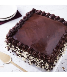 "Chocolate Ganache Cake 10"" Square"