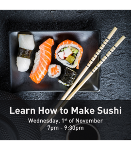 01/11/17: Learn How to Make Sushi (7pm - 9:30pm)