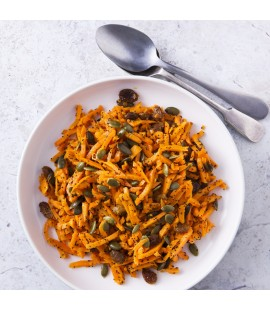Carrot & Roasted Pumpkin Seed Salad with French Dressing