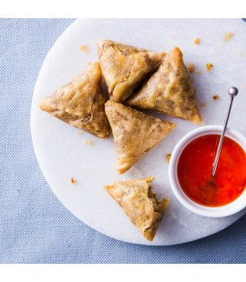 Vegetable Samosas with Sweet Chilli Dip