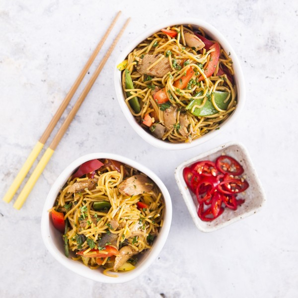 Oriental Chicken Stir Fry with Egg Noodles