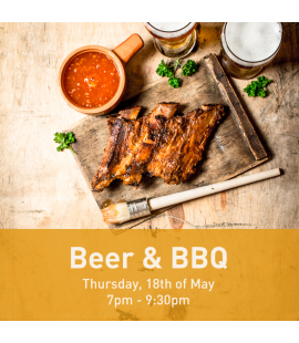 18/05/2017: Beer & BBQ (7pm - 9:30pm)
