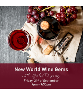 21/09/17: New World Wine Gems (7pm - 9:30pm)