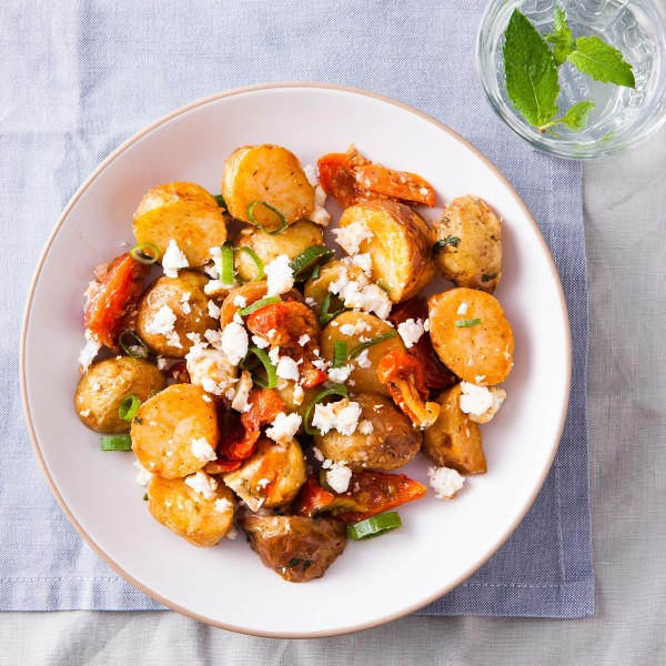 Roasted Baby Potato, Semi-Dried Tomato & Greek Feta Salad