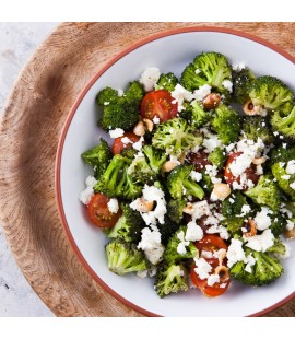 Broccoli, Cherry Tomato & Greek Feta Salad