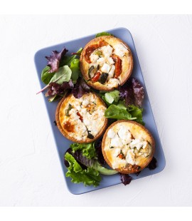 Individual Savoury Tartlet - Sundried Tomato, Courgettes & Feta