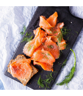 Organic Smoked Salmon with Honey, Lemon & Dill (160g)