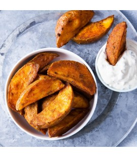 Potato Wedges with Crème Fraîche Dip
