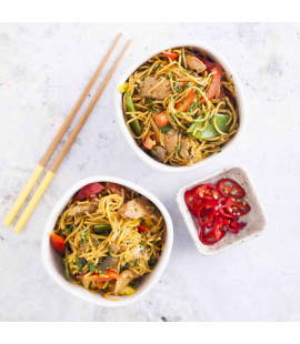 Oriental Chicken Stir Fry with Egg Noodles (200g)