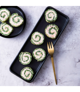 Spinach & Salmon Roulade Canapés