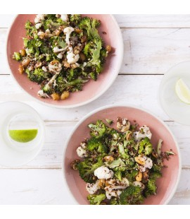 Broccoli Slaw with Sumac, Cauliflower & Quinoa Salad