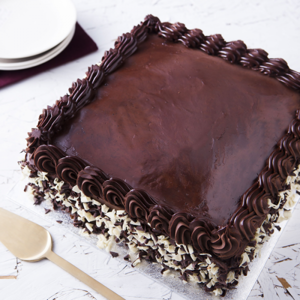 "Chocolate Ganache Cake 12"" Square"