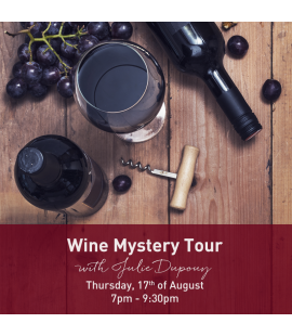 17/08/17: Wine Mystery Tour (7pm - 9:30pm)