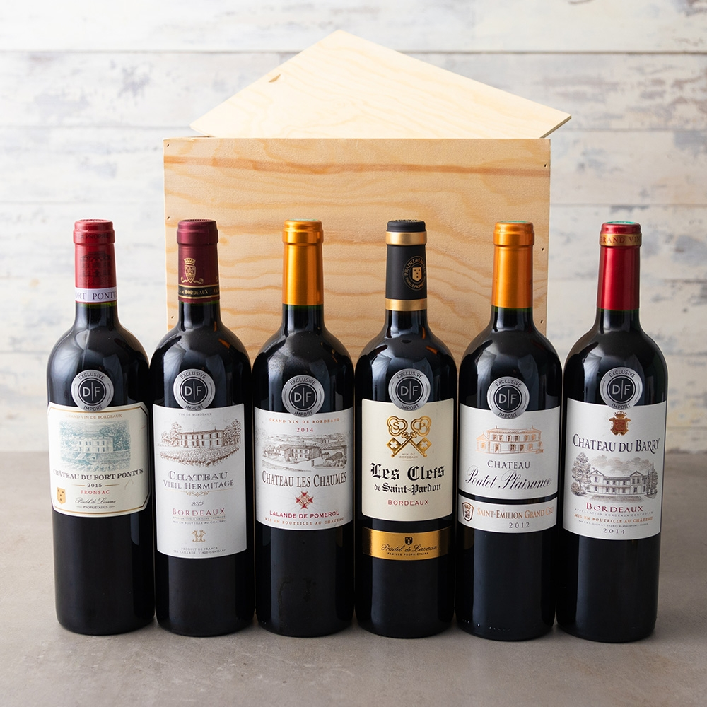 The D|F Bordeaux Wine Wooden Gift Box (Delivery Until 19th Dec Only)