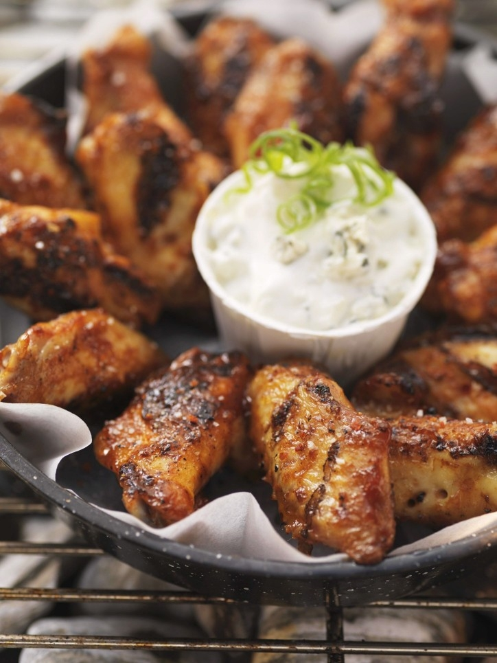 Sticky Buffalo Chicken Wings