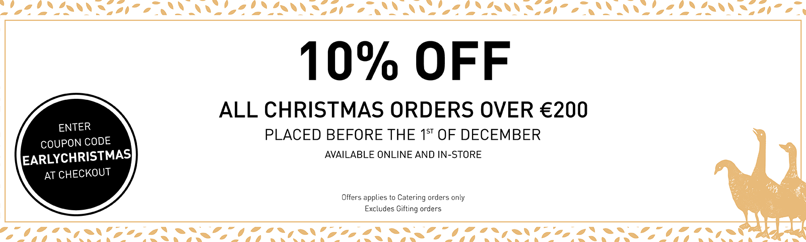 Christmas Catering Book Early Offer